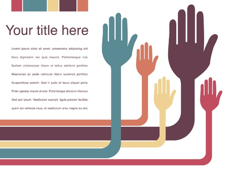 voting: Biegsame Arme und H�nde Design mit Kopie Raum. Illustration