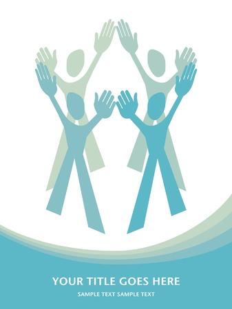 Human teamwork design. Stock Vector - 10502696