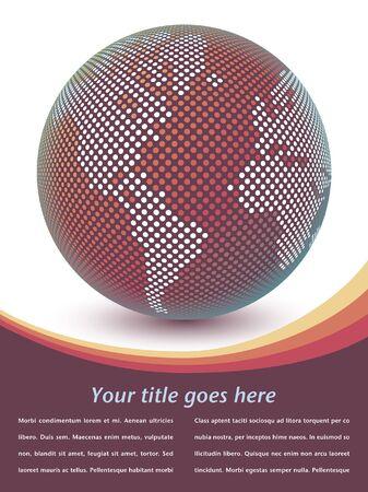 Digital mapa del mundo del diseño con copia espacio. Foto de archivo - 10502876