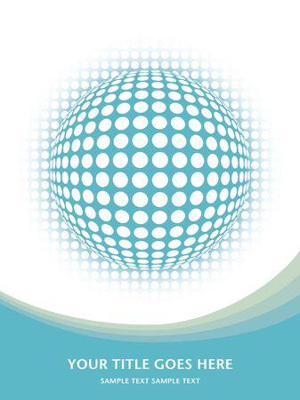 Digital globe design.  Vector