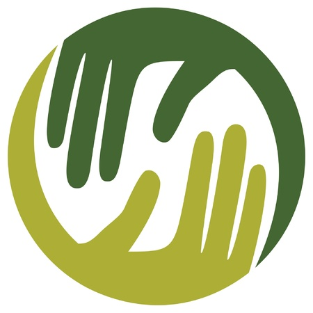 caring hands: Natuurlijke zorgzame handen vector ontwerp.