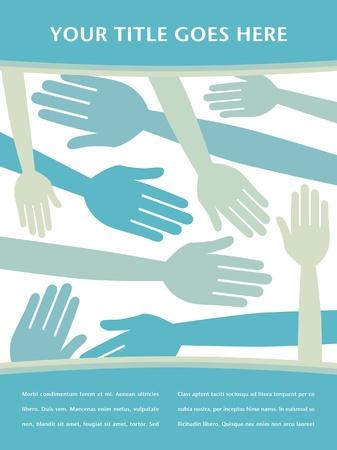 jubilation: Random hands design vector.  Illustration