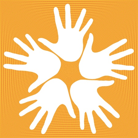 Loving hands design.  Vector