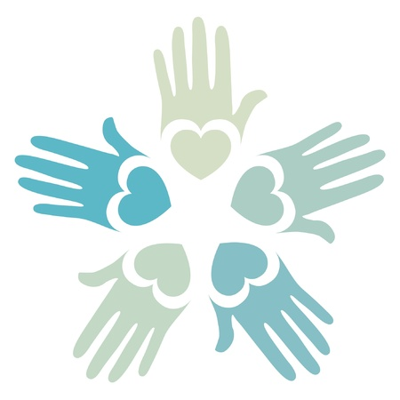 child care: Loving hands design.