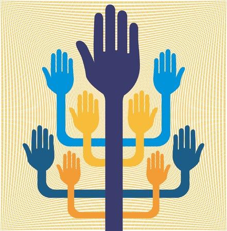 Hands working together design. Stock Vector - 10563269