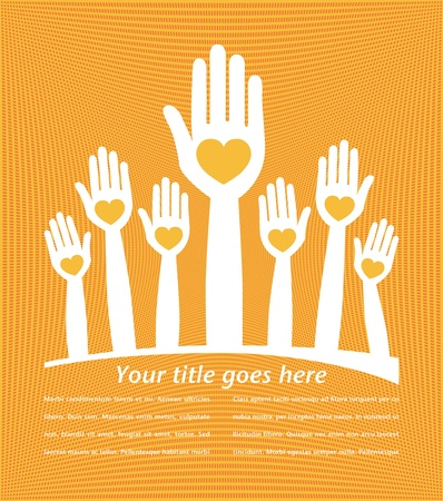 United hands design with copy space  Vector