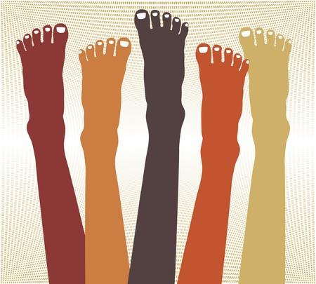 Healthy female feet vector design.