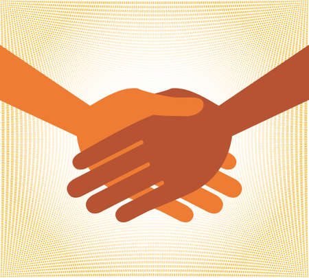 Handshake symmetry vector design. Vector