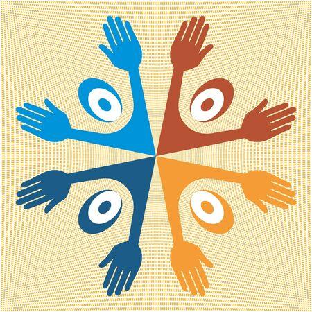 United people vector design.  Vector