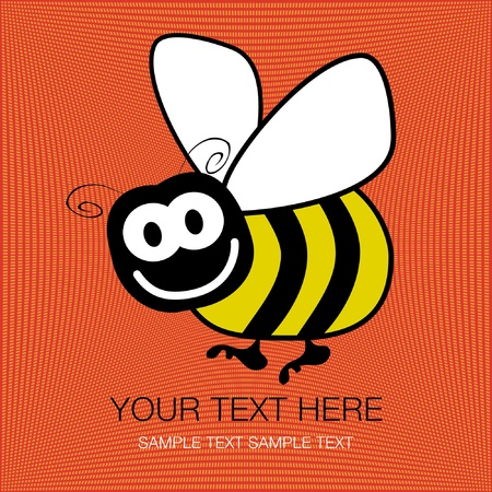Bumble bee design with copy space vector.  Vector