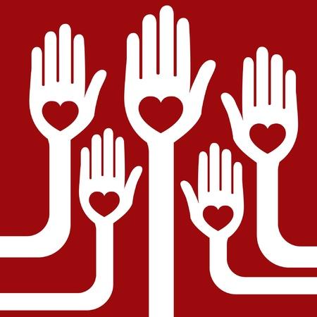 Loving hands vector design.  Vector