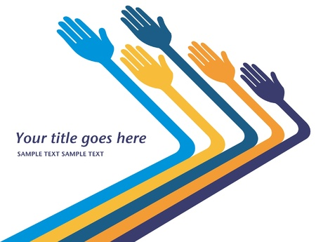 caring hands: Hands reaching out vector design.  Illustration
