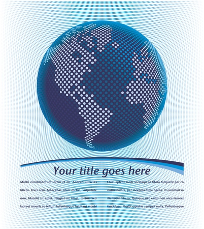 Digital world map design with copy space vector. Stock Vector - 10756525