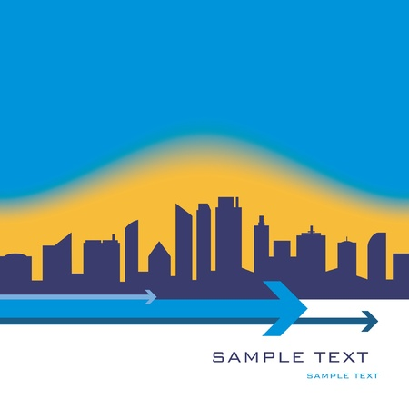 City skyline design with copy space vector. Stock Vector - 10756526