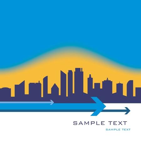 City skyline design with copy space vector. Stock Vector - 10756526
