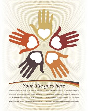 United loving hands design with copy space vector. Stock Vector - 10768789