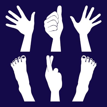 mani incrociate: Mani e piedi sagome.