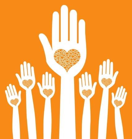 volunteers: Loving hands design.