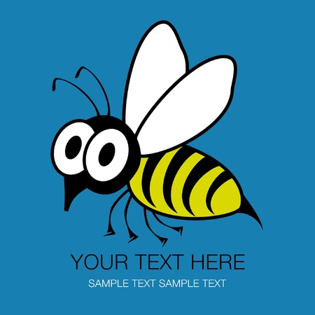 buzz word: Shocked funny wasp or bee design.  Illustration