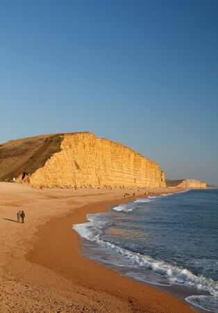south west england: Sandstone cliffs West Bay Dorset England.