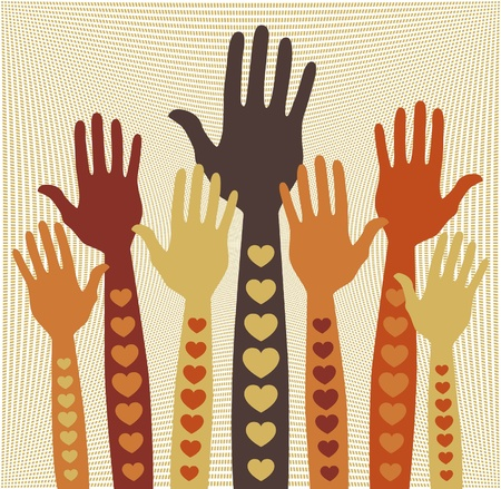 volunteering: Caring or volunteering hands