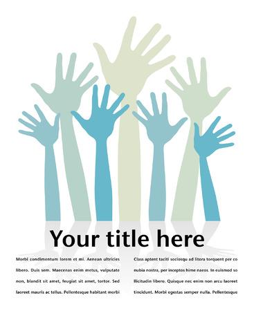 Happy hands design with copy space