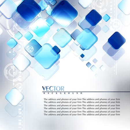 digital background: Blue and grey abstract digital background. Vector