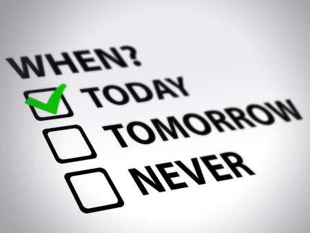 time management survey Stock Photo