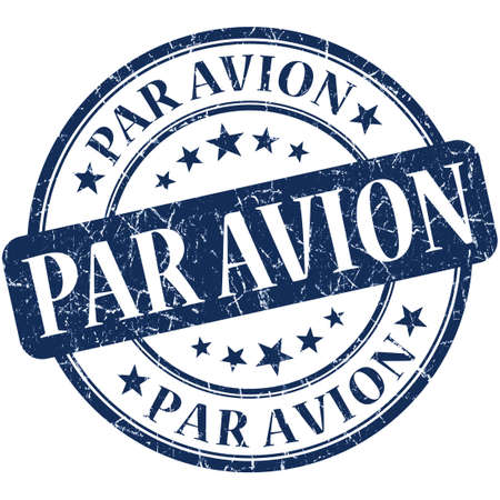 avion: par avion stamp Stock Photo