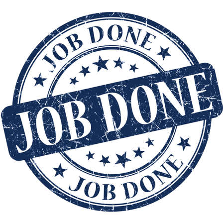 finished: job done stamp Stock Photo
