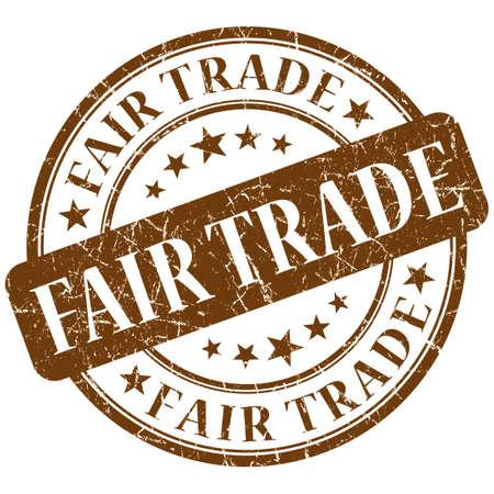 fairtrade: fair trade stamp