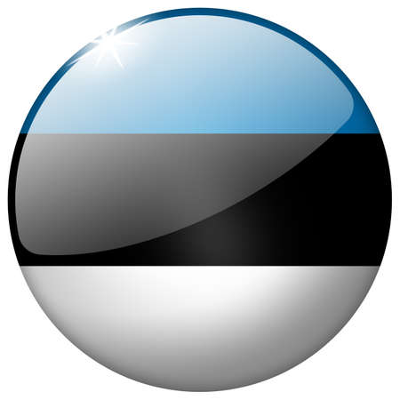 Estonia Round Glass Button photo