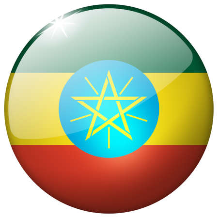Ethiopia Round Glass Button photo