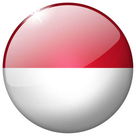 Indonesia Round Glass Button photo
