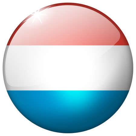 Luxembourg Round Glass Button photo