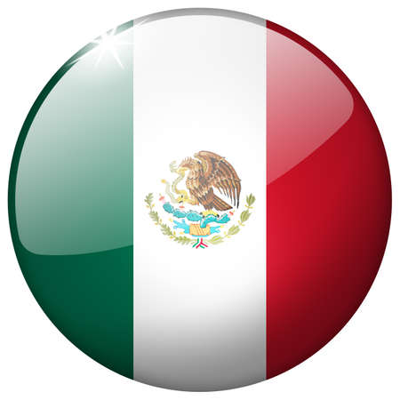 Mexico Round Glass Button photo
