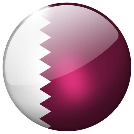 Qatar Round Glass Button Stock Photo - 20981472