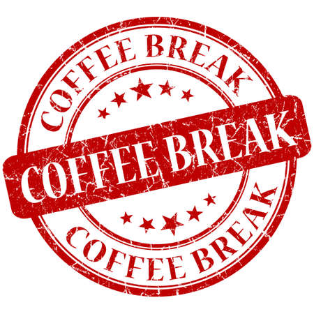 Coffee Break Red stamp photo