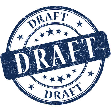 Draft Blue stamp photo