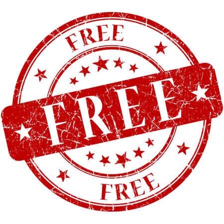 freebie: Free Red stamp Stock Photo