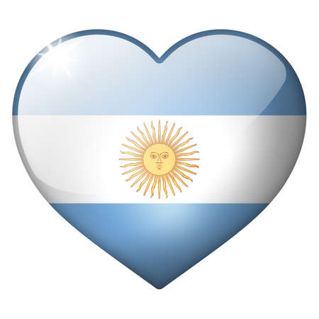 argentina heart button photo