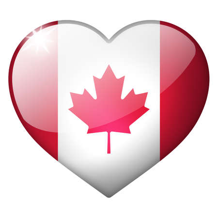 i love canada: canada heart button