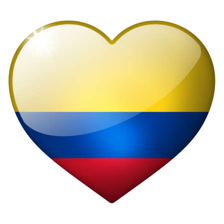 colombia heart button photo