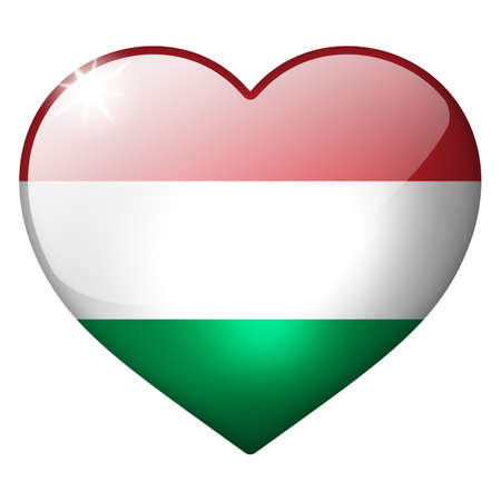 hungary heart button photo
