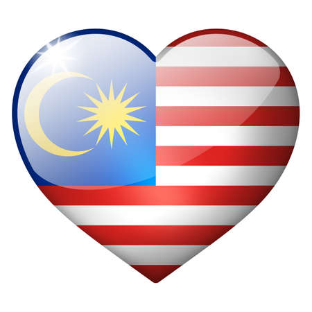 malaysia heart button photo