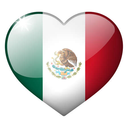 mexico heart button Stock Photo - 20981119