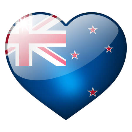 new zealand heart button photo