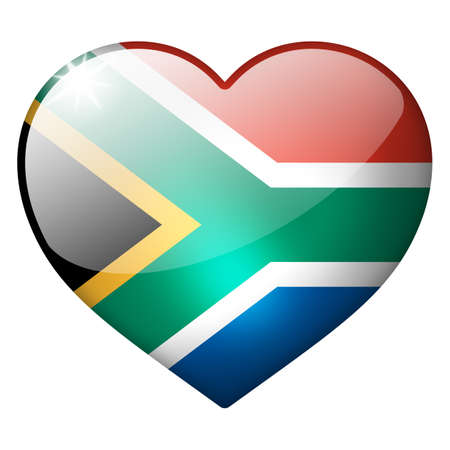 south africa heart button photo