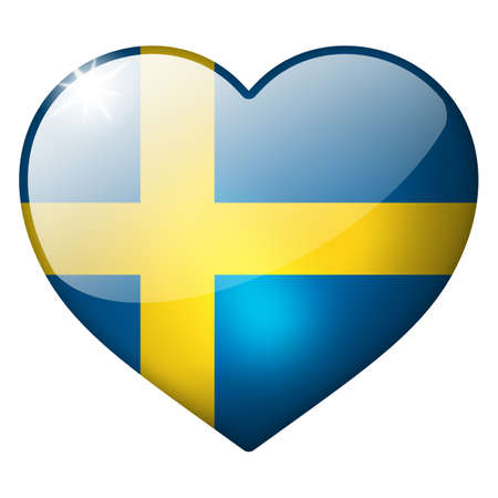 sweden heart button photo