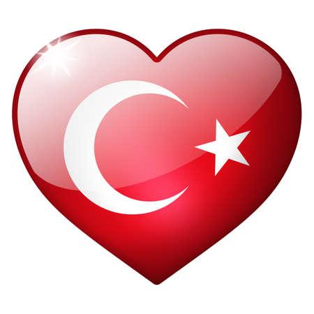 turkey heart button Stock Photo
